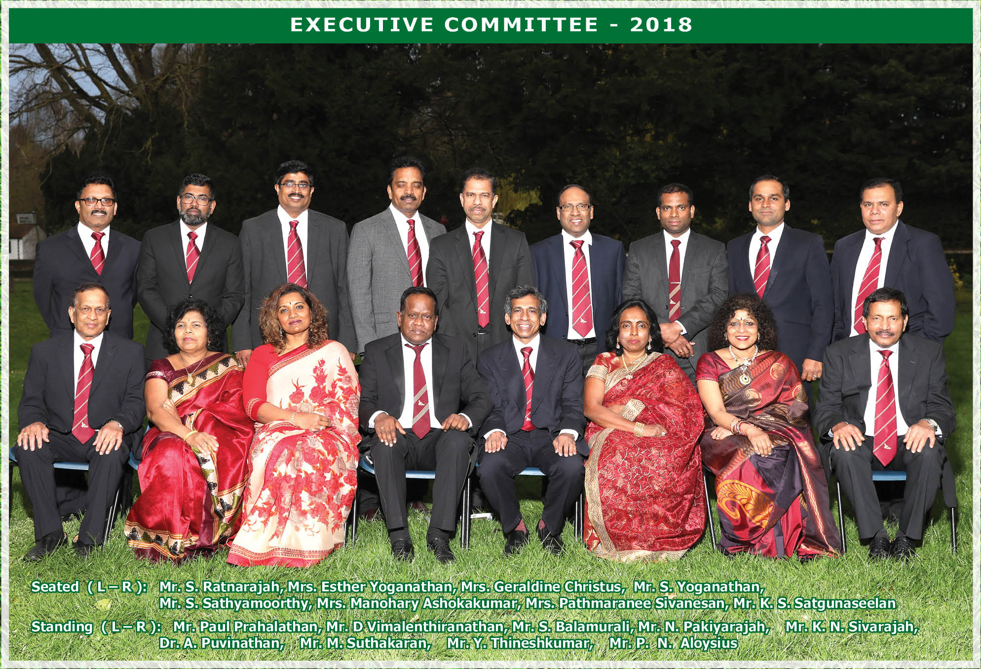 Executive Committee Memebers 2018